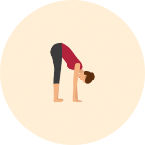 Yoga-Position Uttanasana